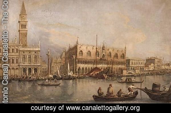 A view of the Doge's palace and Piazza San Marco from the Grand Canal, Venice
