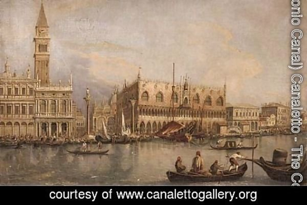 (Giovanni Antonio Canal) Canaletto - A view of the Doge's palace and Piazza San Marco from the Grand Canal, Venice