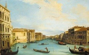 The Grand Canal, looking north-east from the Palazzo Balbi, to the Rialto Bridge