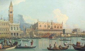 (Giovanni Antonio Canal) Canaletto - The Molo and the Palazzo Ducale, Venice
