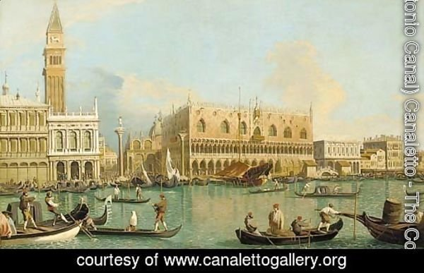 The Molo, the Doge's Palace, and the Piazzetta, Venice, from the Bacino