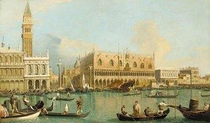 (Giovanni Antonio Canal) Canaletto - The Molo, the Doge's Palace, and the Piazzetta, Venice, from the Bacino