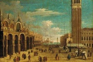 (Giovanni Antonio Canal) Canaletto - The Piazza San Marco, Venice, looking south