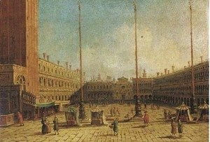 (Giovanni Antonio Canal) Canaletto - The Piazza San Marco, Venice, looking west along the central line