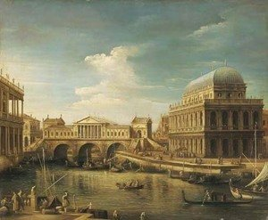 (Giovanni Antonio Canal) Canaletto - The Rialto bridge, Venice