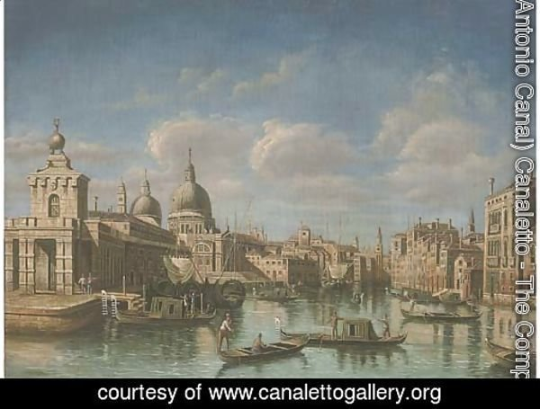 The Grand Canal, Venice, looking west to Sante Maria della Salute