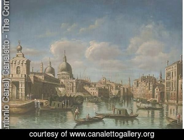 (Giovanni Antonio Canal) Canaletto - The Grand Canal, Venice, looking west to Sante Maria della Salute