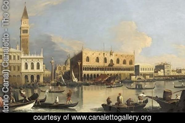 The Molo, the Doge's Palace and the Piazzetta, Venice, from the Bacino