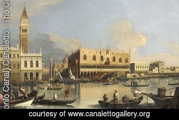 (Giovanni Antonio Canal) Canaletto - The Molo, the Doge's Palace and the Piazzetta, Venice, from the Bacino