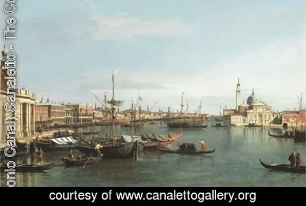 (Giovanni Antonio Canal) Canaletto - The Bacino di San Marco, looking east from the mouth of the Giudecca, the Dogana and the Riva degli Schiavone to the left and San Giorgio Maggiore