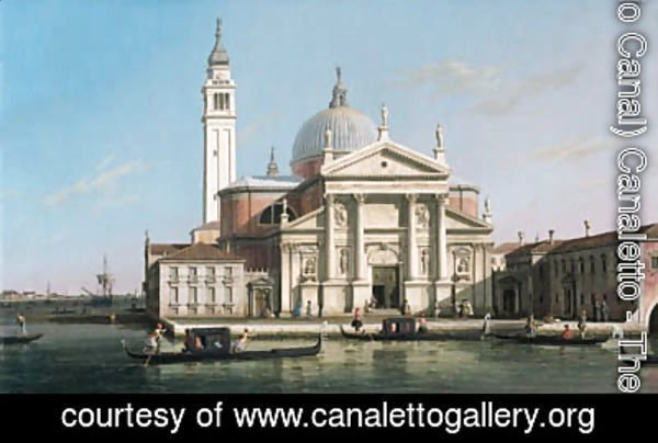 (Giovanni Antonio Canal) Canaletto - The Church of S. Giorgio Maggiore, Venice, with sandalos and gondolas 2