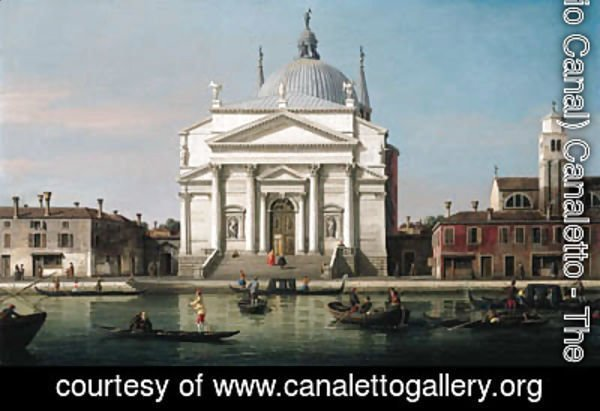 (Giovanni Antonio Canal) Canaletto - The Church of the Redentore, Venice, with sandalos and gondolas