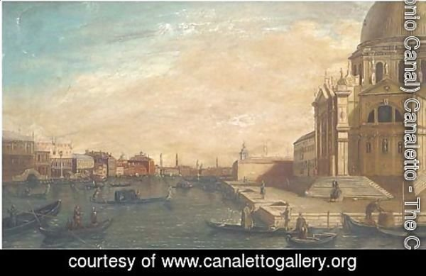 (Giovanni Antonio Canal) Canaletto - Entrance to the Grand Canal looking east