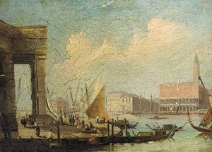 (Giovanni Antonio Canal) Canaletto - The entrance to the Grand Canal from the Customs House, Venice