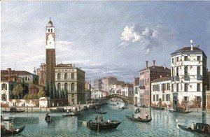 Venice The Grand Canal looking north-west towards S. Geremia and the entrance to the Cannaregio
