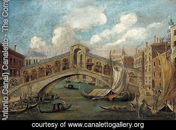 The Rialto Bridge; and The Doge's Palace, Venice