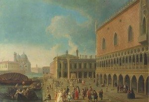 (Giovanni Antonio Canal) Canaletto - The Doge's Palace and the Piazzetta di San Marco, Venice, with the entrance to the Grand Canal and Santa Maria della Salute