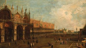 (Giovanni Antonio Canal) Canaletto - The Doge's Palace, Venice, looking towards the Piazzetta