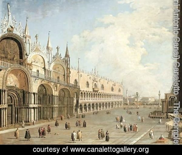 The Piazza San Marco and the Doge's Palace, Venice