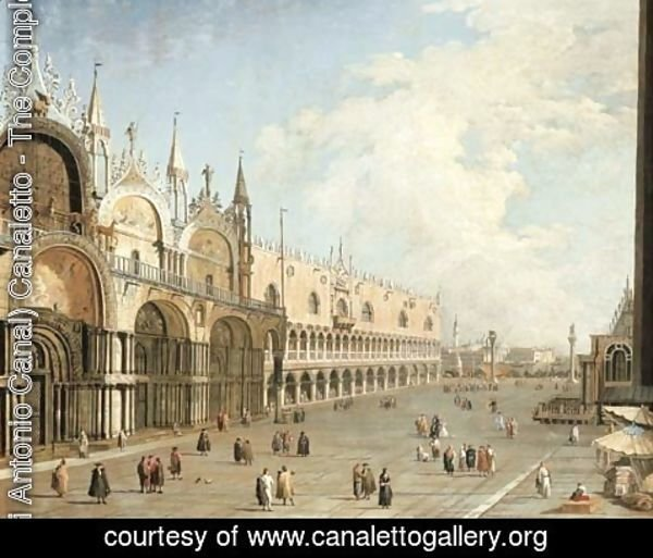 (Giovanni Antonio Canal) Canaletto - The Piazza San Marco and the Doge's Palace, Venice