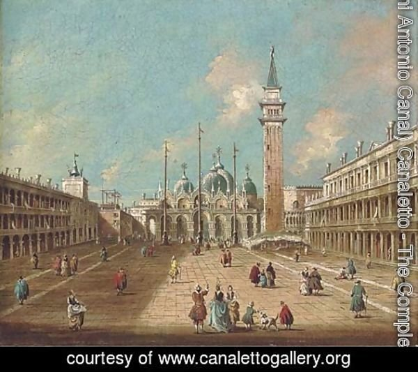(Giovanni Antonio Canal) Canaletto - St. Mark's Square, Venice