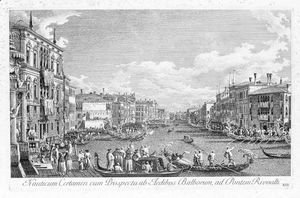 (Giovanni Antonio Canal) Canaletto - Urbis Venetiarum Plates VIII, XIII, And XIV