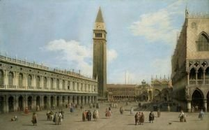(Giovanni Antonio Canal) Canaletto - Venice, A View Of The Piazzetta Looking North