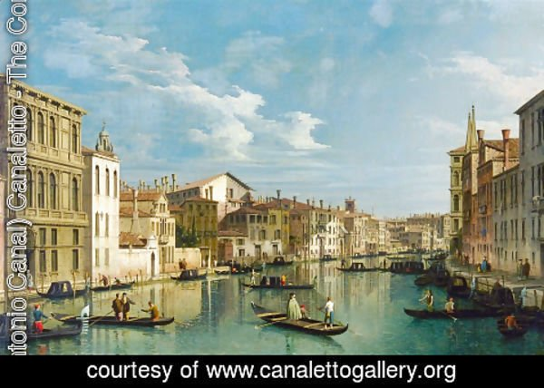 (Giovanni Antonio Canal) Canaletto - Grand Canal from Palazzo Flangini to Palazzo Bembo