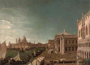 (Giovanni Antonio Canal) Canaletto - The Grand Canal, Venice, looking East