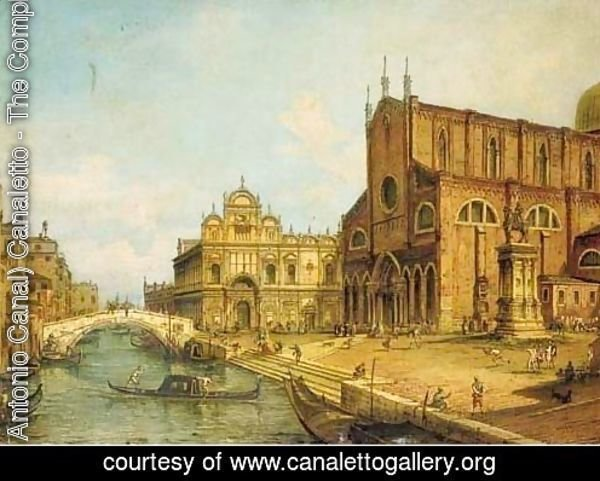 The Rio dei Mendicanti, Venice, with the Scuola di S. Marco and SS. Giovanni e Paolo, Venice