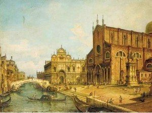 (Giovanni Antonio Canal) Canaletto - The Rio dei Mendicanti, Venice, with the Scuola di S. Marco and SS. Giovanni e Paolo, Venice