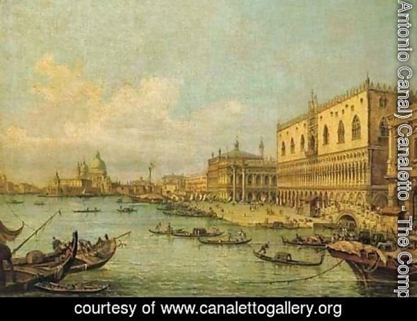 The Molo, Venice, looking West with the Ducal Palace