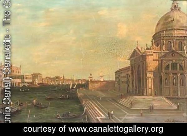 (Giovanni Antonio Canal) Canaletto - The steps of Santa Maria della Salute, Venice