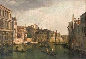 (Giovanni Antonio Canal) Canaletto - A peaceful day on the grand canal