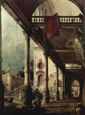 (Giovanni Antonio Canal) Canaletto - The arcade