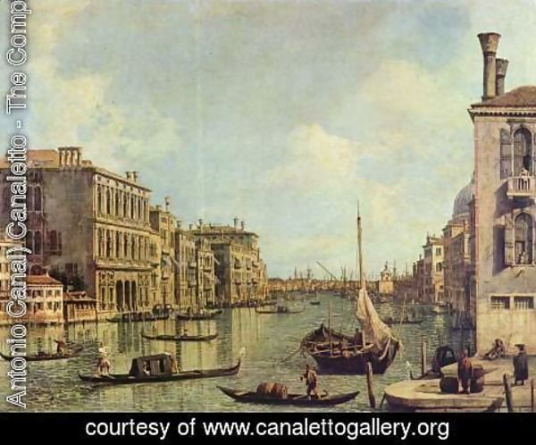 (Giovanni Antonio Canal) Canaletto - Veduta del Canale Grande in the direction of the port of San Marco
