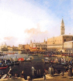 (Giovanni Antonio Canal) Canaletto - Venice, Bacino di San Marco on Ascension Day