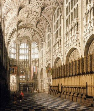 The Interior of Henry VII Chapel in Westminster Abbey