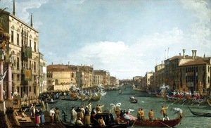 (Giovanni Antonio Canal) Canaletto - A Regatta on the Grand Canal c. 1732