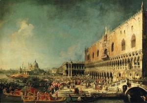 (Giovanni Antonio Canal) Canaletto - Arrival of the French Ambassador in Venice 1740s