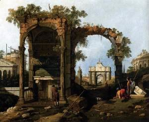 Capriccio  Ruins and Classic Buildings 1730s