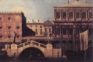Capriccio   The Ponte della Pescaria and Buildings on the Quay 1742-44