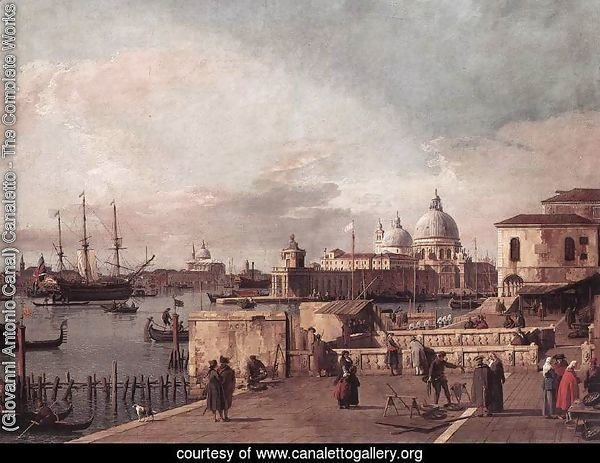 Entrance to the Grand Canal- from the West End of the Molo 1735-40
