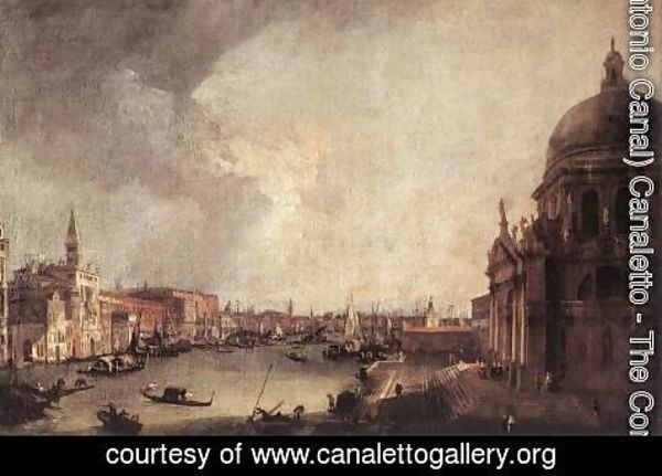 (Giovanni Antonio Canal) Canaletto - Entrance to the Grand Canal- Looking East c. 1725