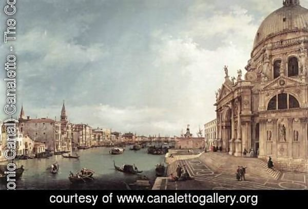 (Giovanni Antonio Canal) Canaletto - Entrance to the Grand Canal- Looking East 1744