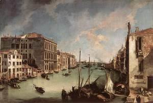 (Giovanni Antonio Canal) Canaletto - Grand Canal    Looking East From The Campo San Vio