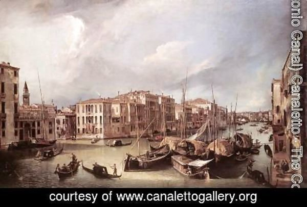 (Giovanni Antonio Canal) Canaletto - Grand Canal    Looking North East Toward The Rialto Bridge