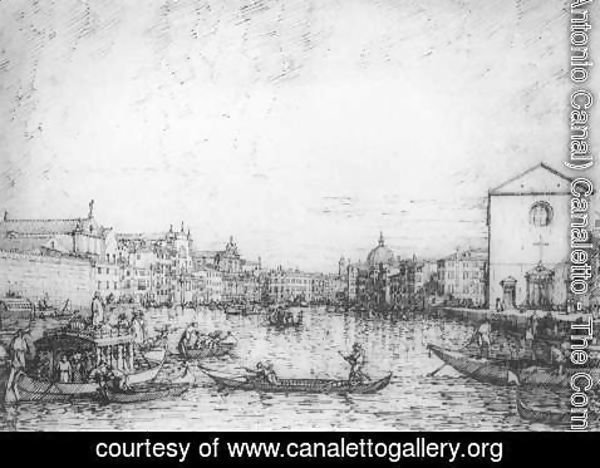 (Giovanni Antonio Canal) Canaletto - Grand Canal Looking North East From Santa Croce To San Geremia