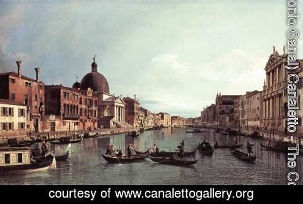 (Giovanni Antonio Canal) Canaletto - Grand Canal Looking South West