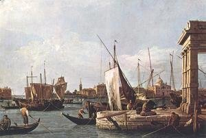 (Giovanni Antonio Canal) Canaletto - La Punta Della Dogana   Custom Point